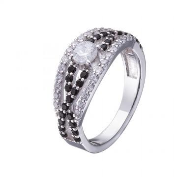 Серебряное кольцо с куб. цирконием 1002-4