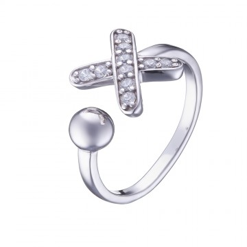Серебряное кольцо с куб. цирконием