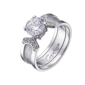Серебряное кольцо с куб. цирконием 1023