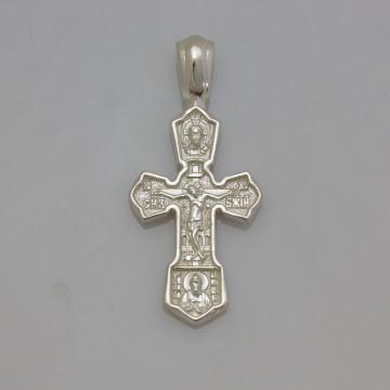 Серебряный крестик с Распятием Христа 32108