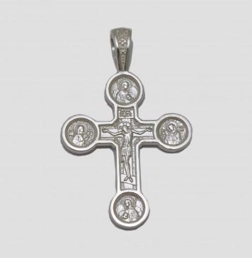 Серебряный нательный крестик 3261