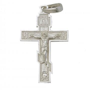 Серебряный крестик с Распятием Христа 3296