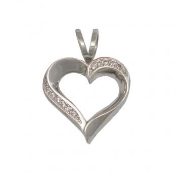 Серебряний кулон Серце 3301