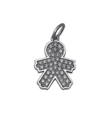 Кулон из серебра Мальчик 3302