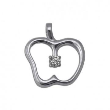 Серебряный кулон Яблуко 3303