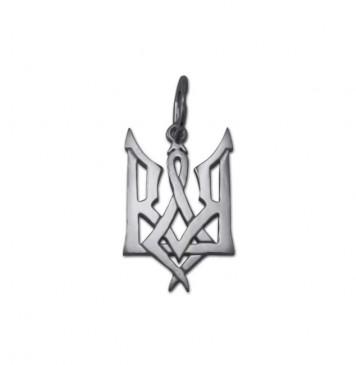 Серебряный кулон Герб Украины 3305
