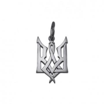 Срібний кулон Герб України 3305
