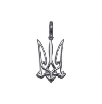 Серебряный кулон Герб Украины 3325