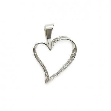 Срібний кулон Серце 3334