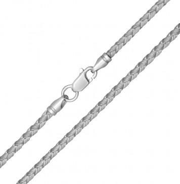 Плетеный шелк Серебряный 2.5 мм с серебряной застежкой 6215