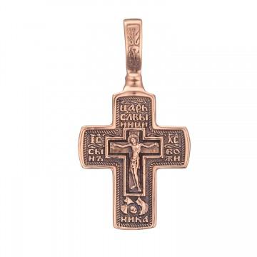 Золотой крестик с Распятием Христа z3260-K