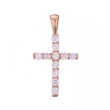 Золотой крестик с камнями z3286-K
