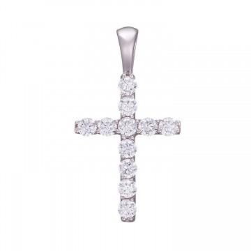 Золотой крестик с камнями z3287-B